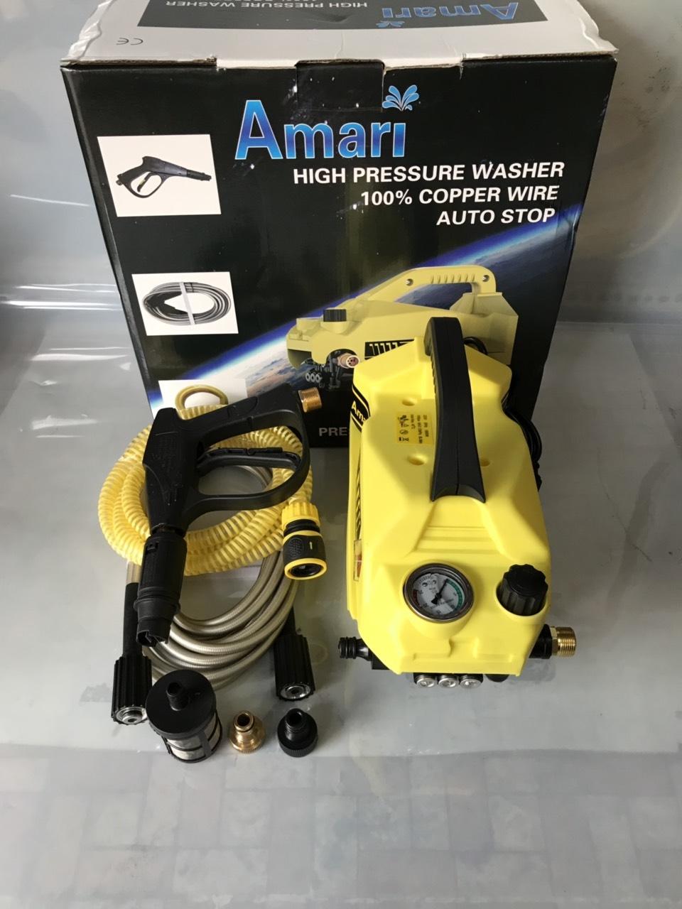 Máy rửa máy lạnh bảo dưỡng điều hòa AMARI có chỉnh áp lực nước mô tơ 100% dây đồng bảo hành mô tơ 12 tháng