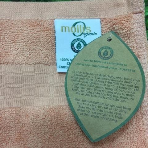 Khăn hữu cơ Mollis Kt 30x50cm - màu cam