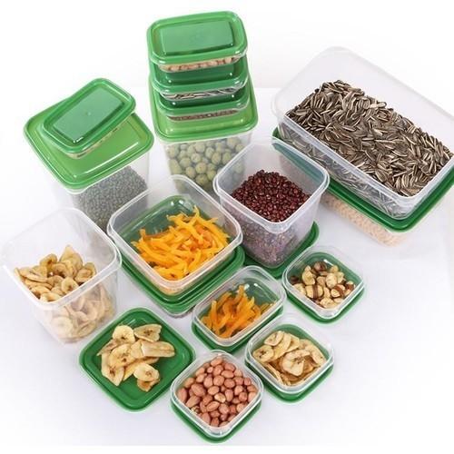 SET 17 Hộp Nhựa Đựng Thức Ăn Thực Phẩm Tiện Ích