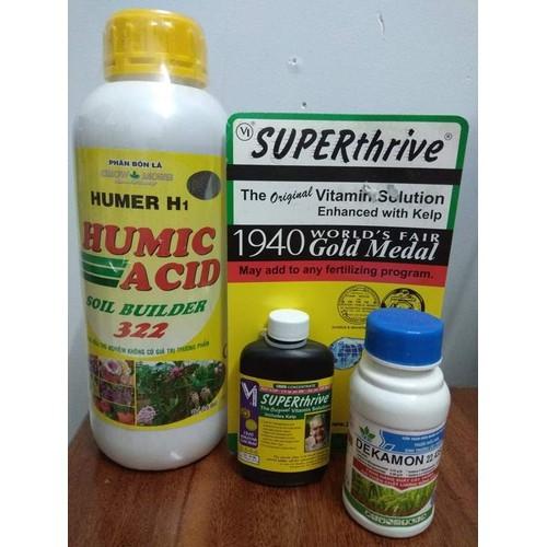 Combo siêu kích rễ Acid humic 1 LÍT + superthrive 60ML +dekamon 100ML