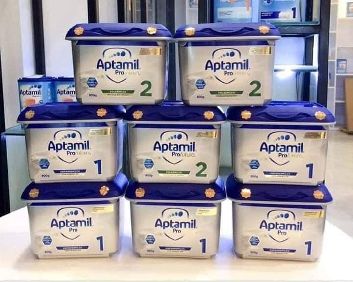 Aptamil Profutura số 1 2 3 chính hãng Anh Quốc Hộp 800gr