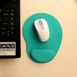 Miếng lót chuột EVA PU có đệm êm giảm mỏi tay hình oval nhỏ gọn, tiết kiệm không gian bàn làm việc - màu xanh lơ MLC35