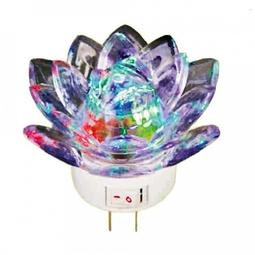 Bóng đèn led ngũ sắc đổi màu hình bông sen cao cấp - Huy Tưởng