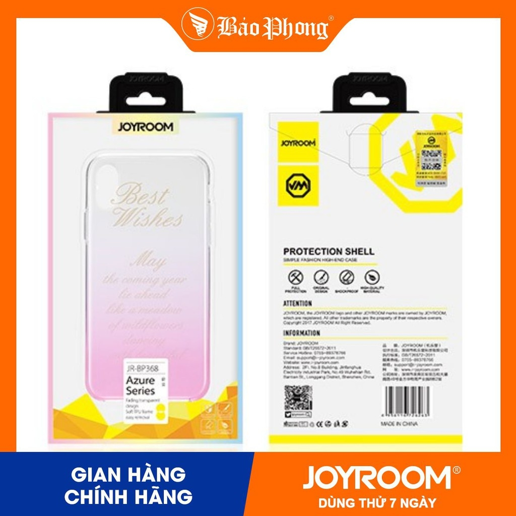 Ốp JOYROOM JR-BP368 iphone X /XS