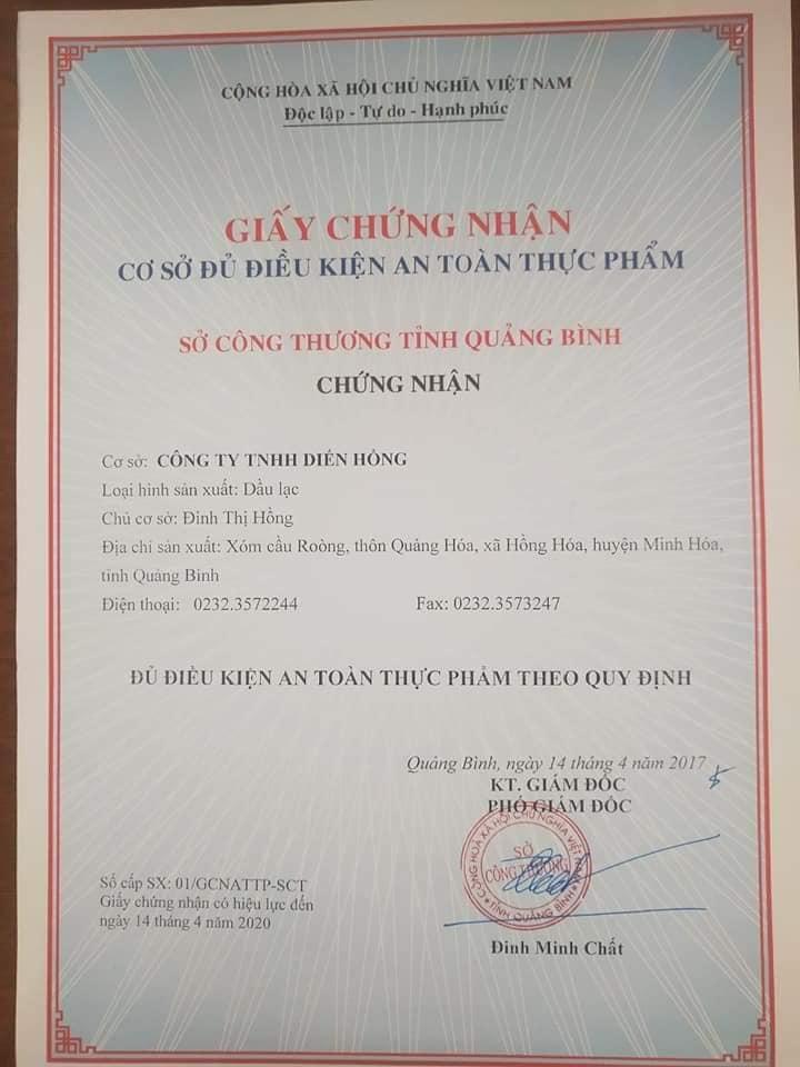 Đặc sản Quảng Bình - Dầu lạc nguyên chất Nông Việt