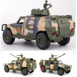 Mô hình xe tăng bằng sắt tỉ lệ 1:32 xe chạy cót có âm thanh động cơ và đèn xe mở các cửa
