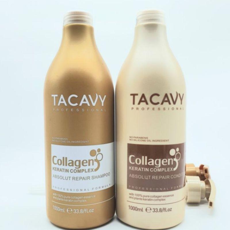 Cặp gội xả Collagen Tacavy cải thiện tóc gãy rụng 1000ml x2