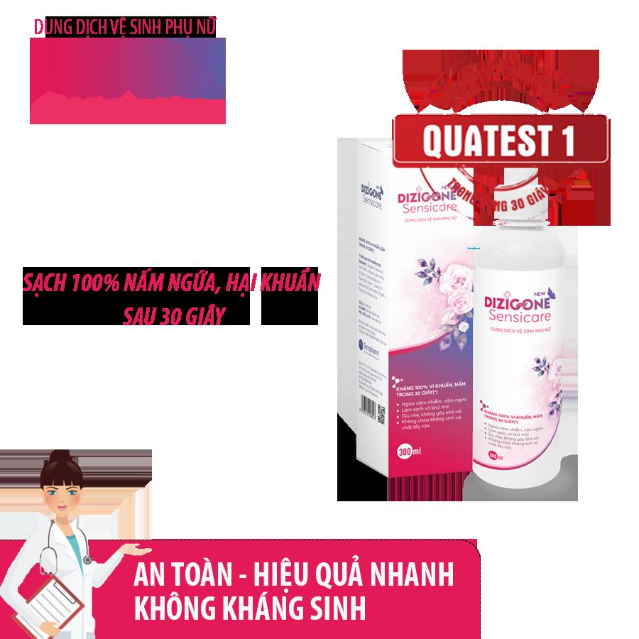 Dung dịch vệ sinh phụ nữ DIZIGONE Sensicare - Hết ngứa, khí hư, mùi hôi chỉ từ 2 ngày