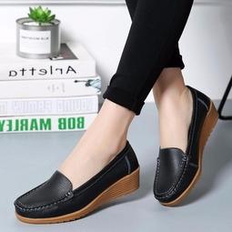 Giày lười nữ, giày lười nữ đế độn, giày bệt nữ chất liệu da mềm mại, chống hôi chân, đi cực êm(sp50)