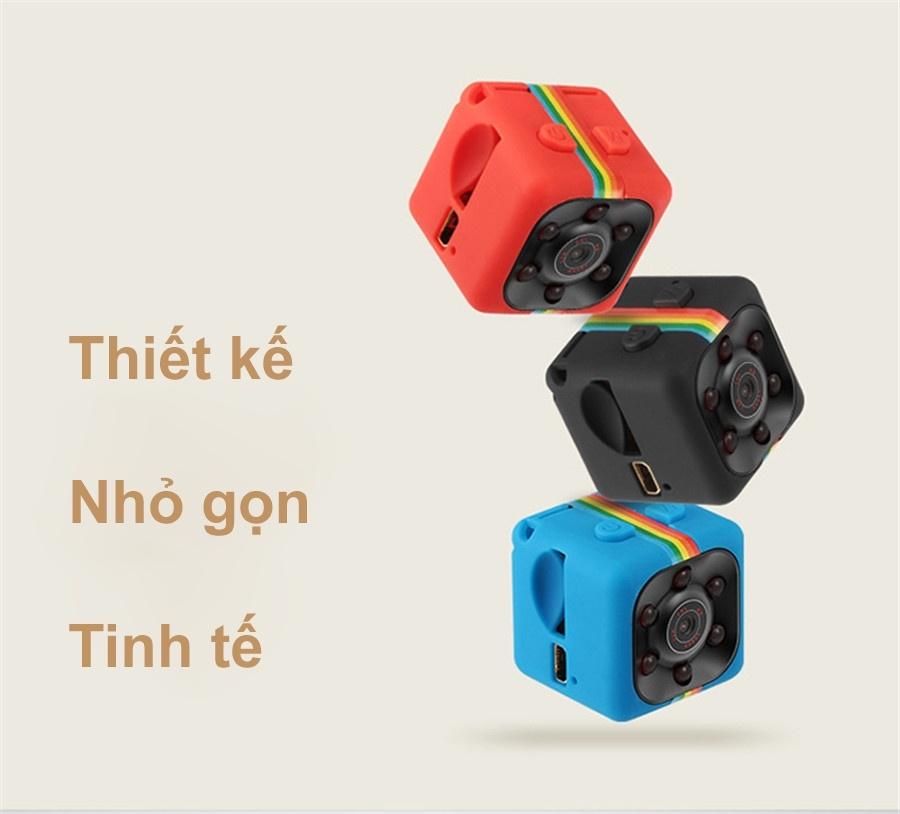 Camera Hành Trình Siêu Nhỏ Quay Đêm Hồng Ngoại Tầm Nhìn Xa Phân Giải Cao SQ11 Full HD 1080 12M - Đỏ