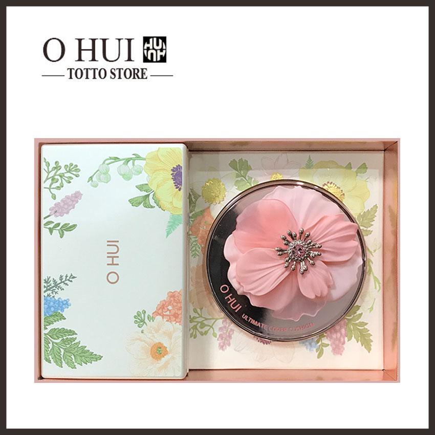 Phấn nước Ohui hoa đào limited 2020 + tặng 1 lõi + 1 bảng son OHUI 3 màu