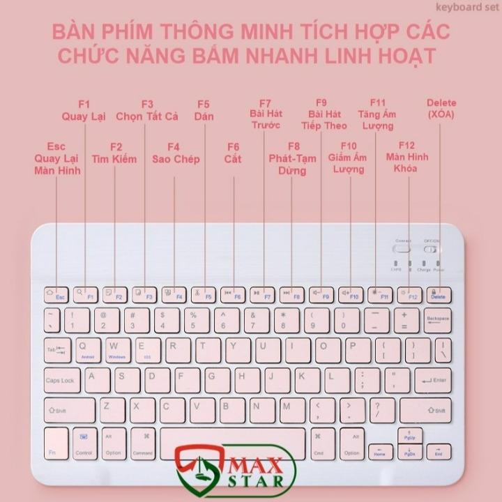Bộ bàn phím và chuột không dây bluetooth cho laptop ipad điện thoại cao cấp