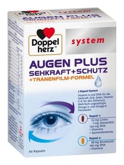 Thuốc Bổ Mắt Doppelherz Augen Plus Sehkraft Schutz, 60 Viên