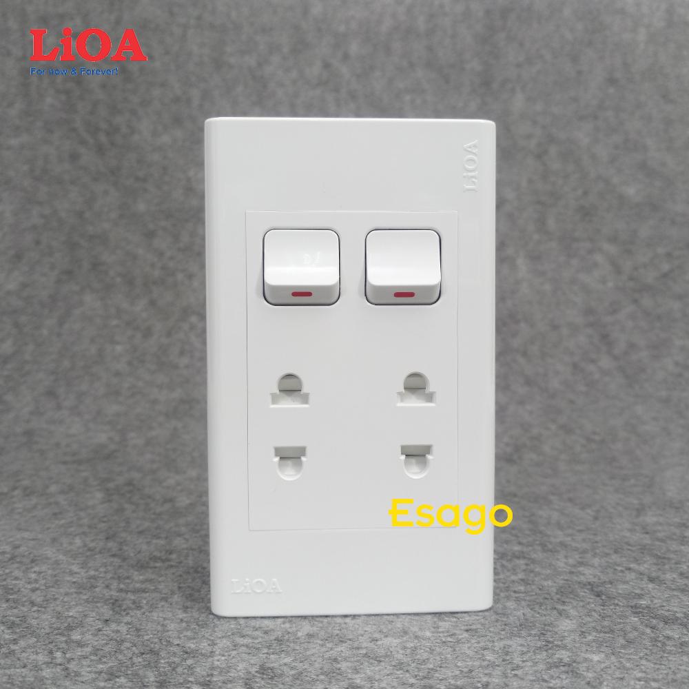 Combo ổ cắm điện đôi 2 chấu 16A (3520W) + 2 công tắc điện LiOA Lắp nổi -  P532846 | Sàn thương mại điện tử của khách hàng Viettelpost