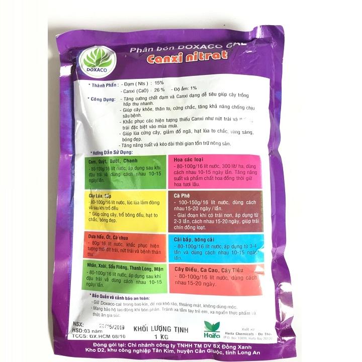 Phân bón Canxi nitrat 15-0-0+26 CaO gói 1kg bổ sung canxi cho cây trồng