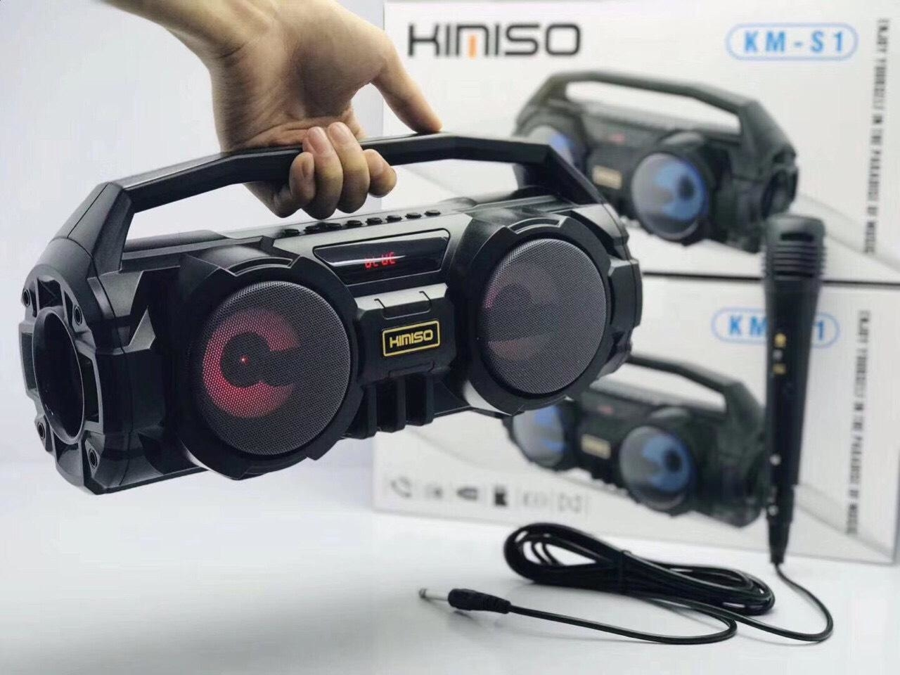 Loa Bluetooth Karaoke KIMISO S1/S2 - Tặng kèm 01 Micro
