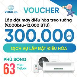 Voucher Lắp đặt máy điều hòa treo tường 9.000BTU-12.000BTU
