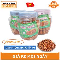 Combo 12 hủ Đậu Phộng Rang Phú Vinh 75gr - Đặc sản Trà Vinh