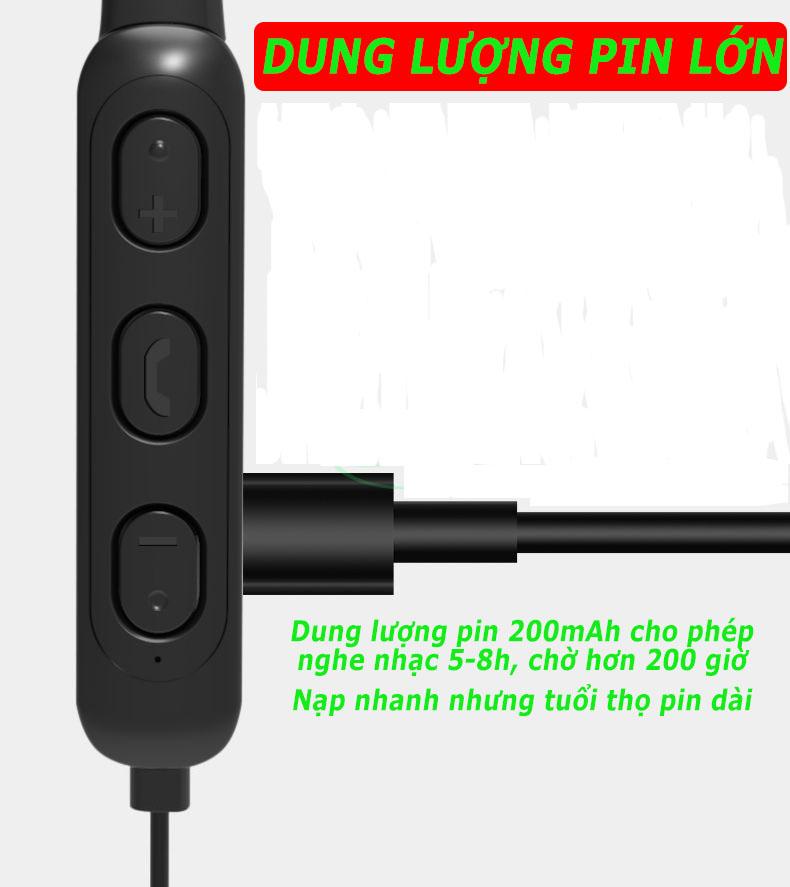 Tai nghe Bluetooth 5.0 cao cấp A10S thể thao chống nước,Pin trâu Bass mạnh tai nghe không dây có mic, loa siêu trầm extra bass Tai nghe in-Ear bản quốc tế dùng cho điện thoại Iphone, Samsung, sony, oppo, xiaomi-TẶNG CÁP SẠC-GINKA