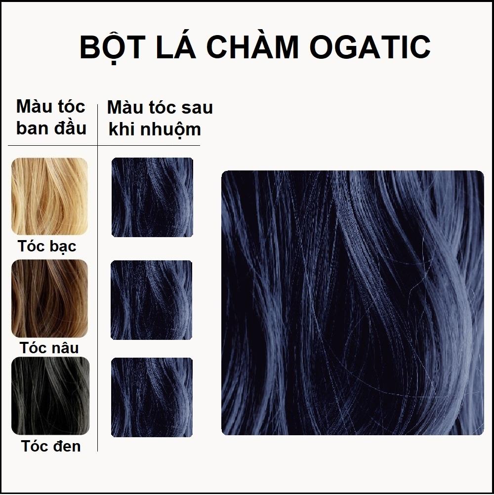 Bột lá nhuộm tóc Ogatic - Màu Đen