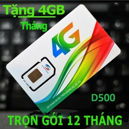 Sim vào mạng 4G cả năm của Viettel D500