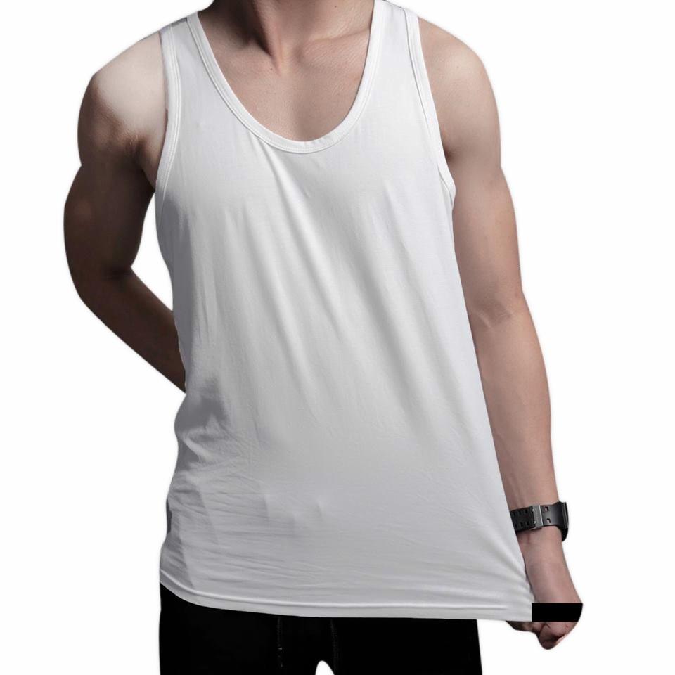 Áo Ba Lỗ Cotton T-Simple (Trắng)