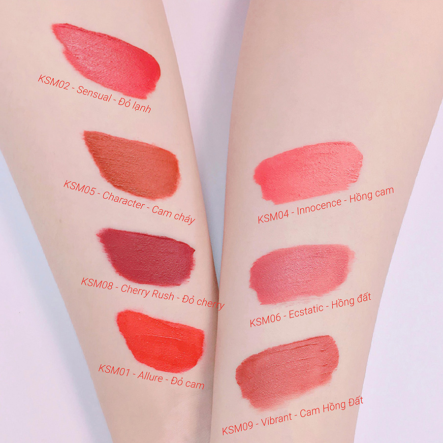 Son Chocolate Matte Liquid Lipstick KYS – SENSUAL ĐỎ LẠNH