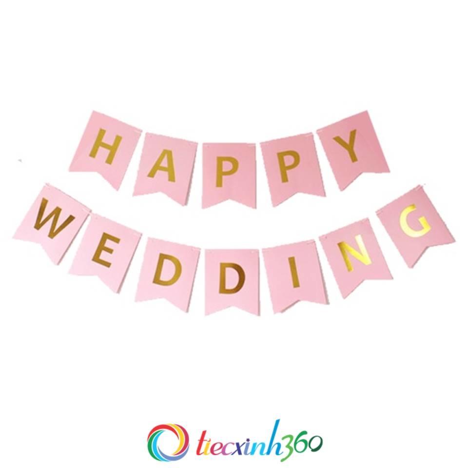 Dây treo Banner Happy Wedding