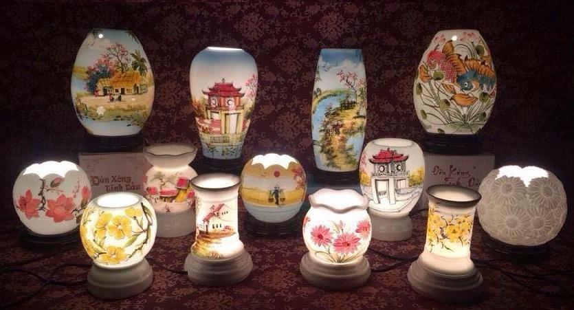Đèn xông tinh dầu gốm sứ Bát Tràng (loại to) - Tâm An Shop