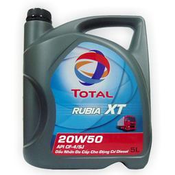 Dầu Nhớt Đa Cấp Cho Động Cơ Dầu có TURBO tăng áp Total RUBIA XT 20W-50 5Lít