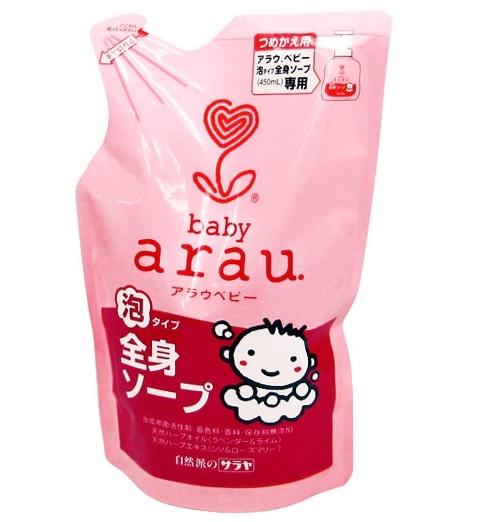 Sữa tắm trẻ em Arau baby túi 400ml