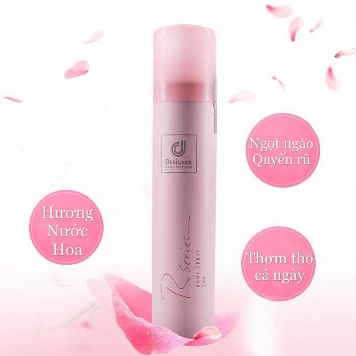 Combo sữa dưỡng thể và xịt toàn thân hương nước hoa Rseries Malaysia 200ml+75ml