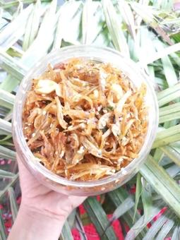 Cá Mờm cơm rim đậu phộng