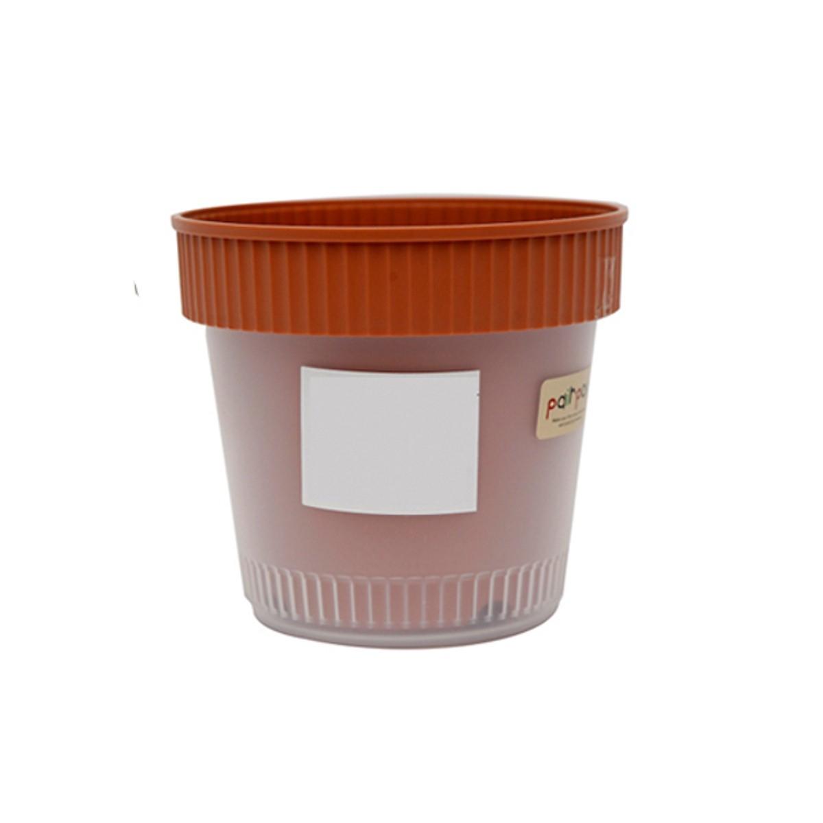 Combo Chậu trồng cây 2 lớp + Xẻng làm vườn cầm tay cán gỗ - Nội địa Nhật Bản - Giao màu ngẫu nhiên