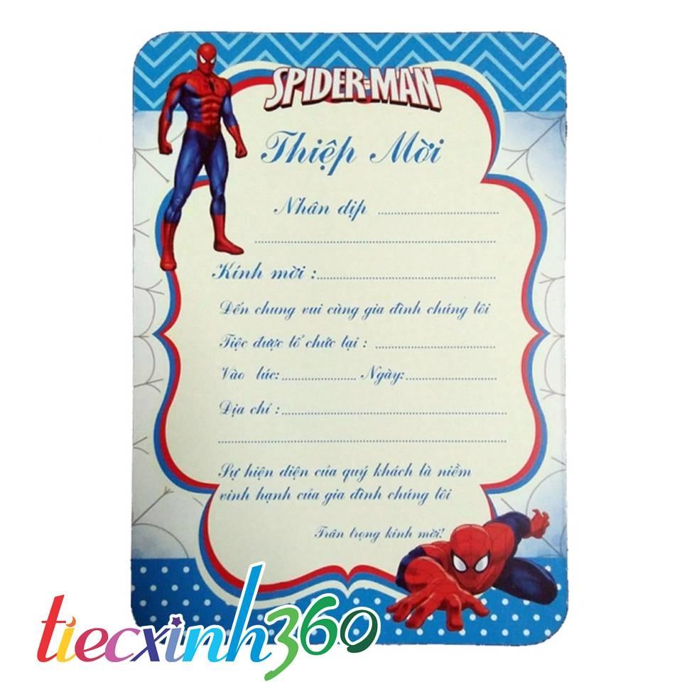 Thiệp 10 sinh nhật người nhện