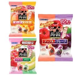 Thạch trái cây Orihiro Nhật Bản - Gói 12 gói mix 2 vị