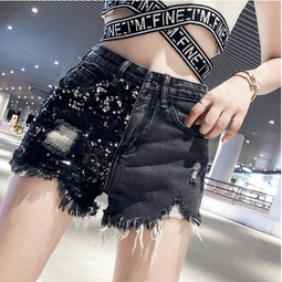 quần short nữ rách tua kim sa Mã: QN810