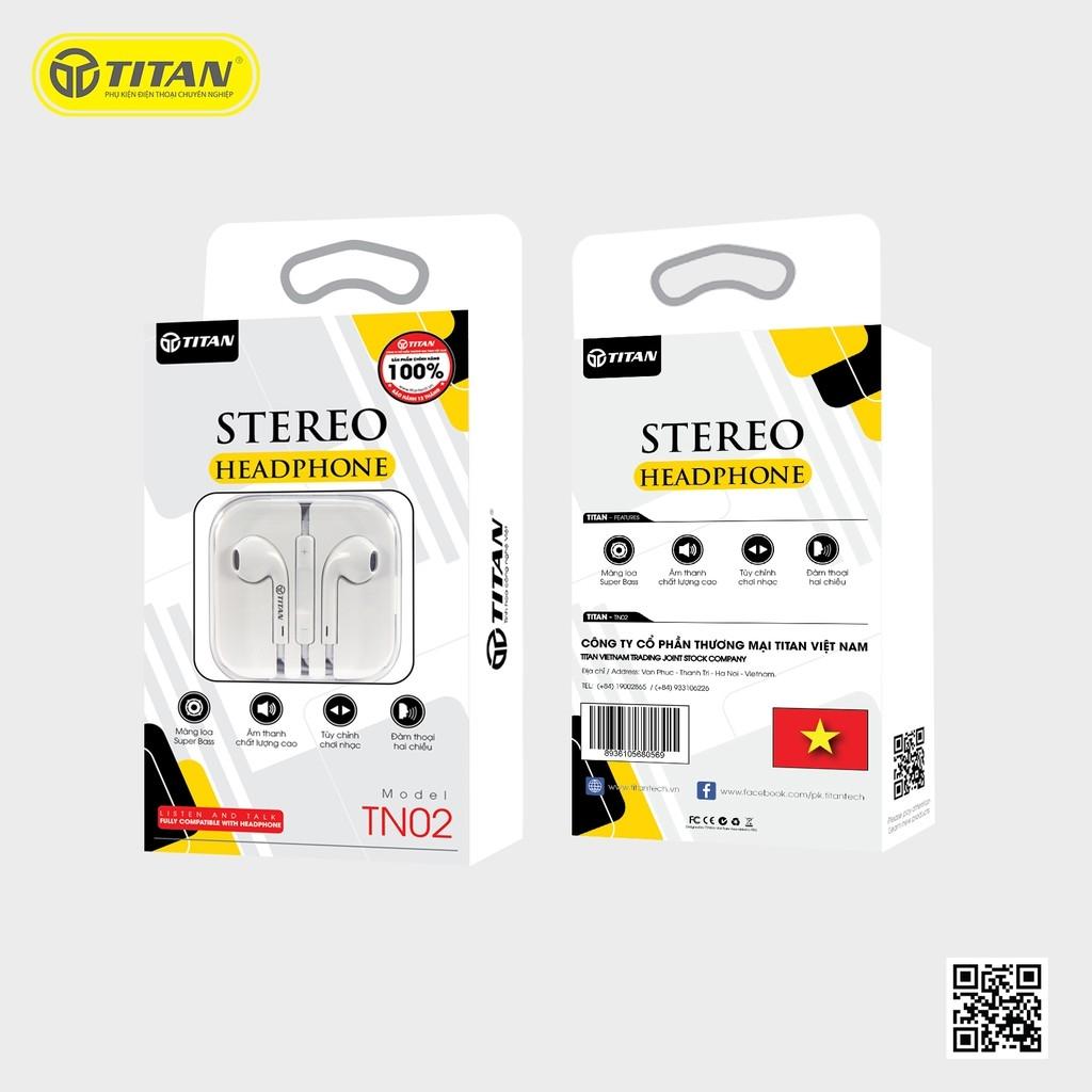 Tai Nghe Liền Dây Zin Iphone TITAN - TN02