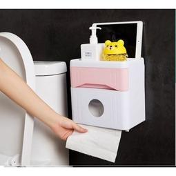 Hộp đựng giấy vệ sinh đa năng có ngăn kéo cao cấp