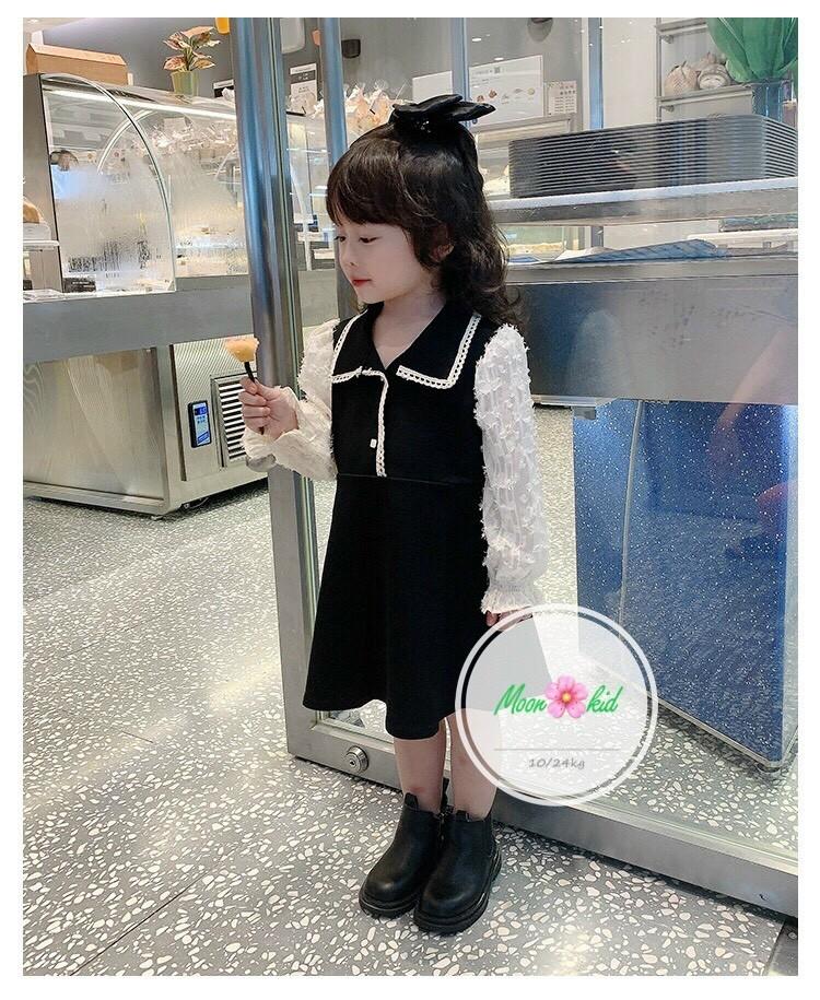 Đầm cho bé ( vải umi pha tay ren )