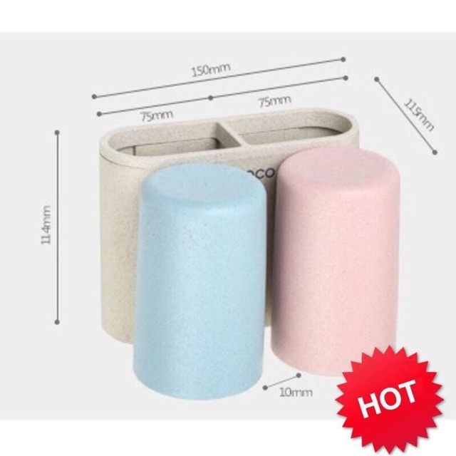 Giá để bàn chải + kem đánh răng kèm cốc Ecoco 1701