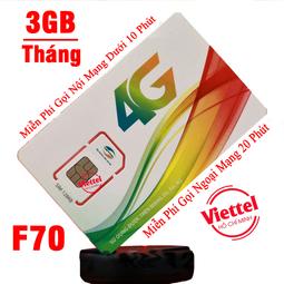 Sim 4G Viettel Miễn Phí gọi nội mạng dưới 10 phút Tặng 3GB Tháng