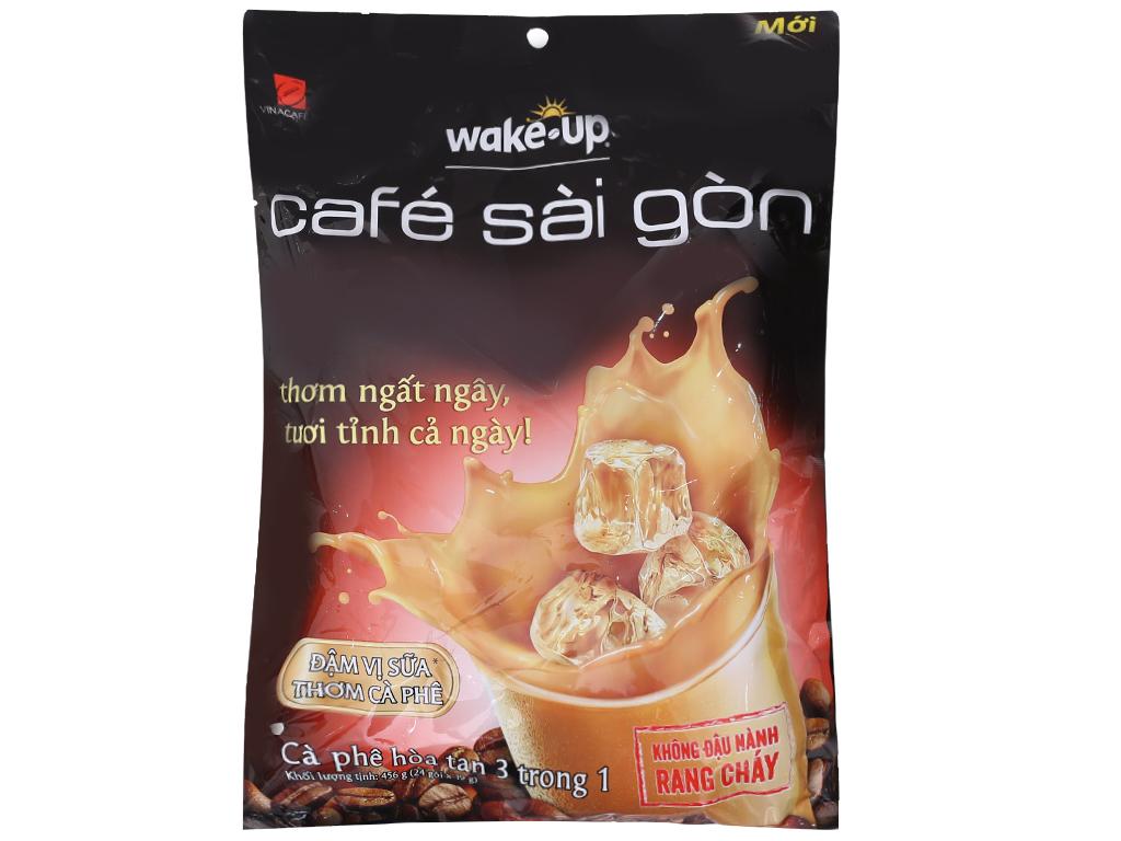 Cà phê sữa hòa tan Wake Up Café Sài Gòn 456g-19g x 24 gói