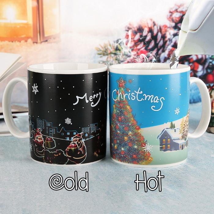 Ly đổi màu giáng sinh merry christmas, Cốc đổi màu phong cách Noel Giáng Sinh - Mẫu 1