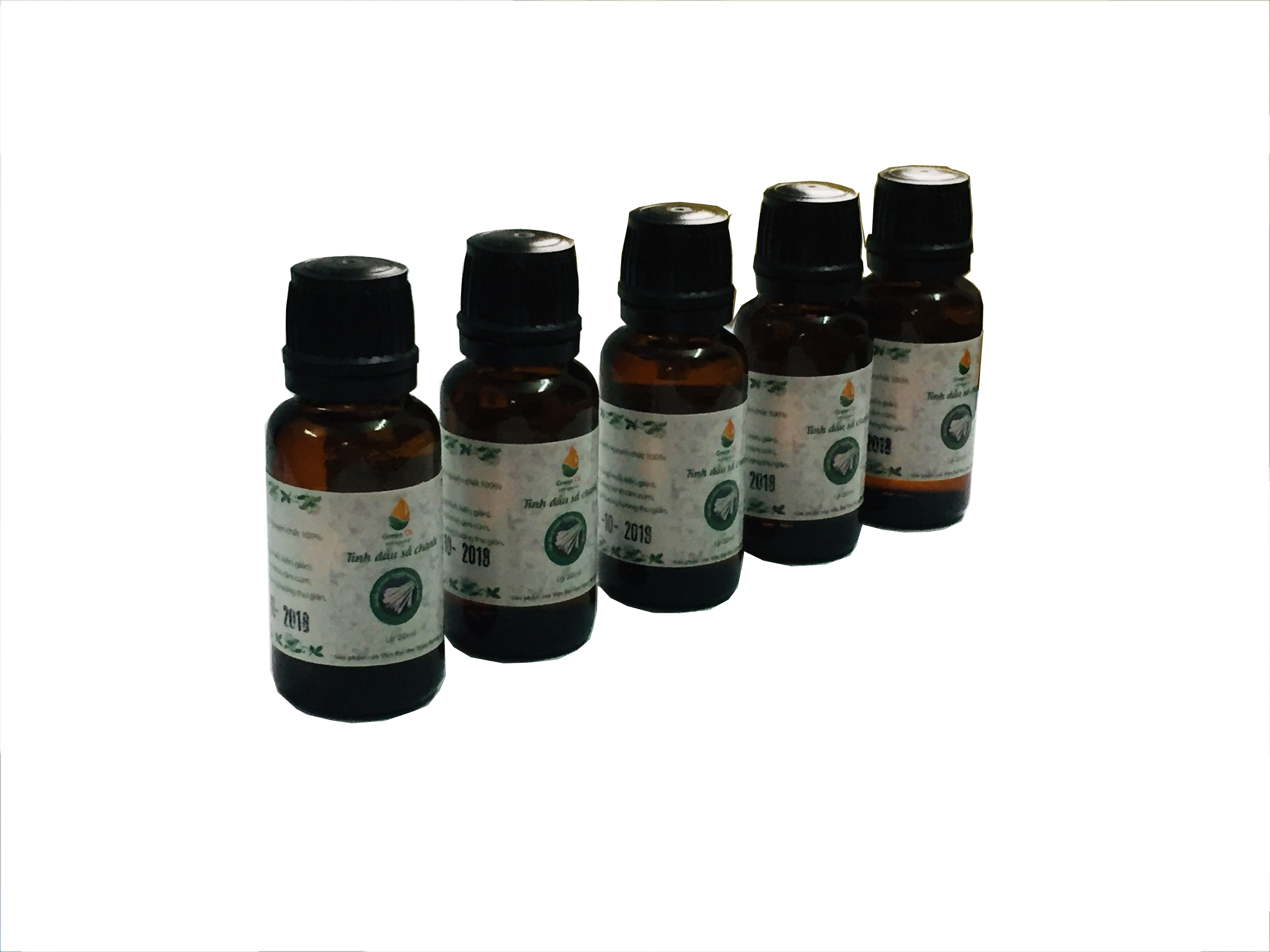 Combo 5 lọ tinh dầu sả chanh Greenoil 20ml