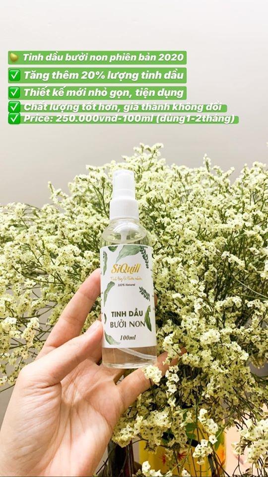 Tinh Dầu Bưởi Non SiQuill - Trị Rung Tóc - 100% Organic