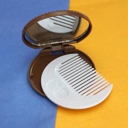 Bộ gương lược bỏ túi mini hình chiếc bánh cookie màu nâu nhạt  BGL11