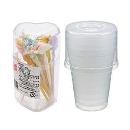 Combo Set 5 cốc nhựa 380ml + Hộp 20 nĩa ăn trái cây - Nội địa Nhật Bản