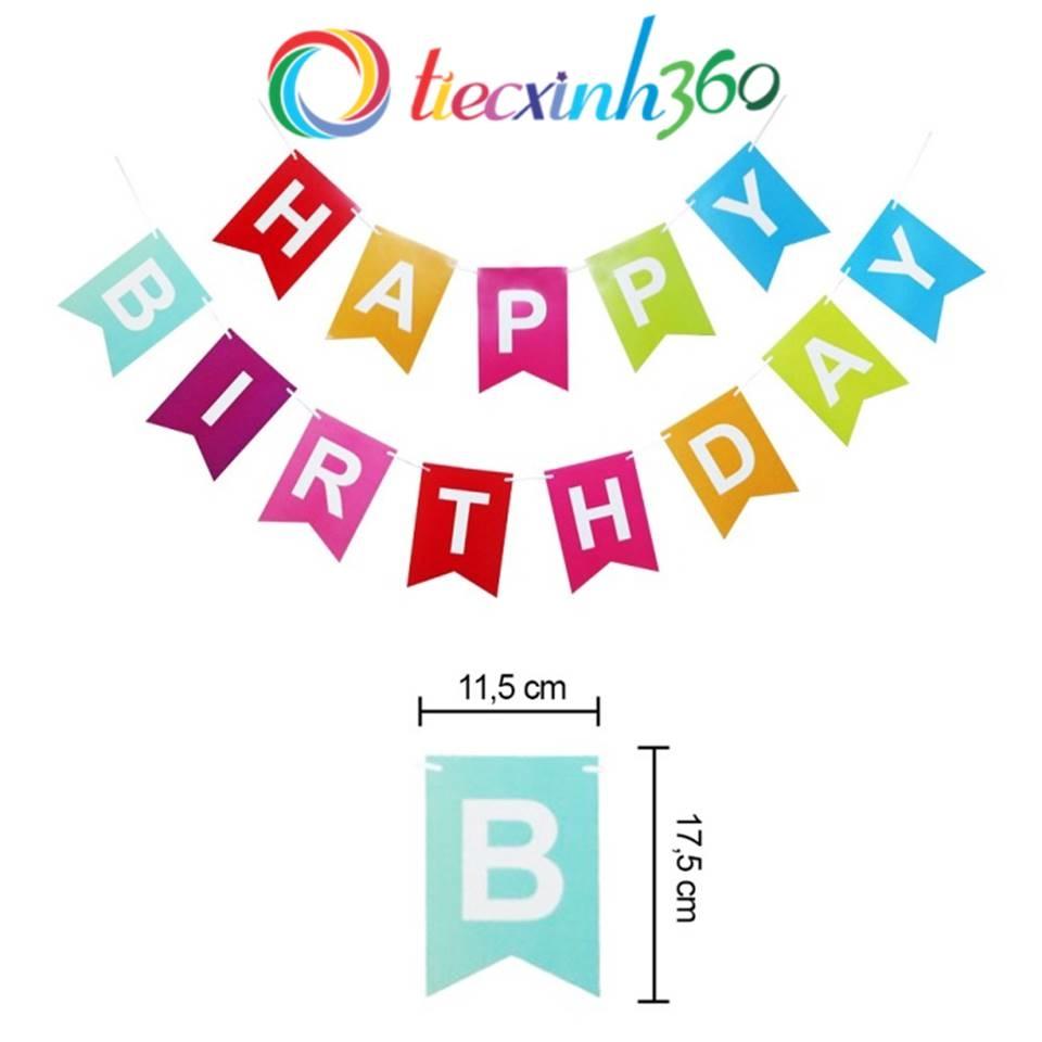 Dây treo sinh nhật Happy Birthday nhiều màu