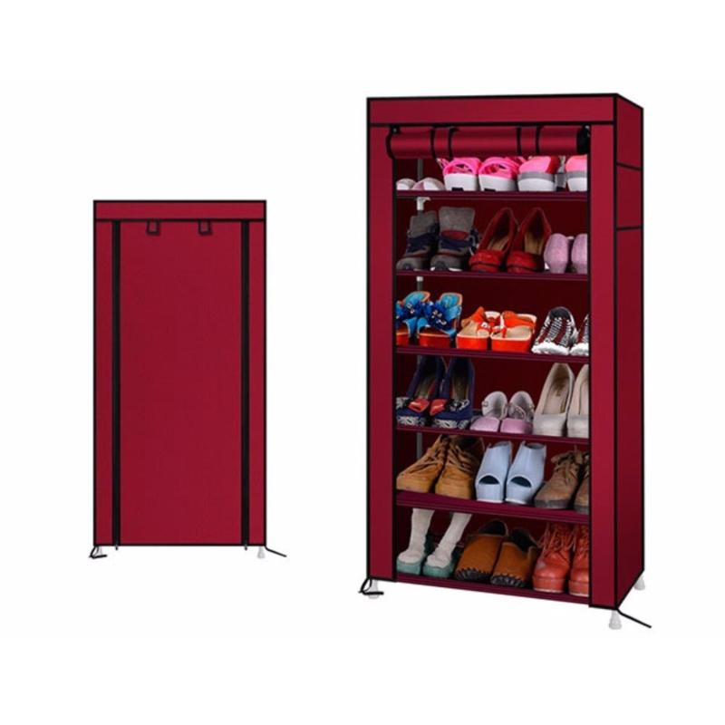 Tủ vải giày dép 7 tầng 6 ngăn có khóa kéo - P105226 | Sàn thương mại điện  tử của khách hàng Viettelpost